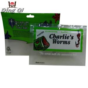 Plastic worm bags
