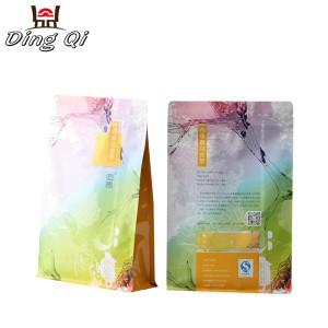 Square bottom plastic bags