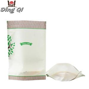 Plain white paper bags