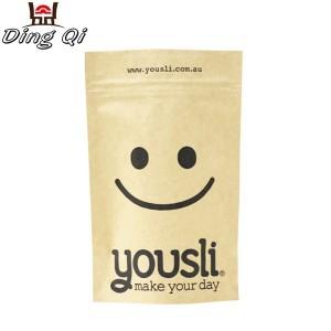 Custom printed paper bags zipper food package