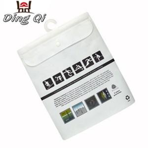 Pvc clothes Underwear travel transparent plastic pack bag for clothes