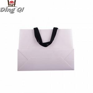 Custom small cusomize luxury brand recyle white environmental food grade packaging kraft shopping paper bag