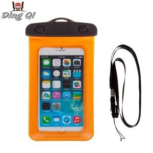 Clear PVC swimming phone bag waterproof