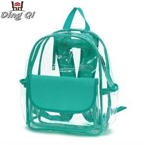 Casual clear pvc plastic book bag