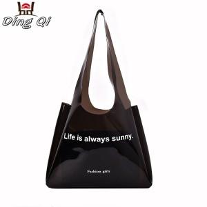 Wholesale fashion transparent clear pvc waterproof jelly handbag