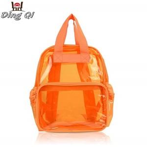 Custom school kids waterproof fashion pvc orange bag
