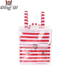 Custom design bottom pvc luxury ziplock bag