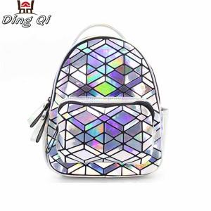 Custom holographic rainbow pvc bag