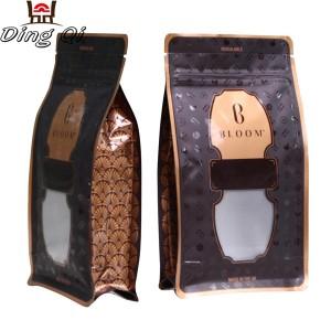 Coffee bags with window 0.5lb 1lb 2lb 5lb
