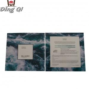 Wholesale factory custom printed heat seal Aluminum foil plastic face mask packaging bag