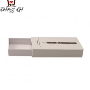 Luxury matte blank hard rectangular recycled paper cardboard drawer gift packaging box