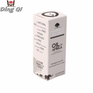 Cardboard essential oil box