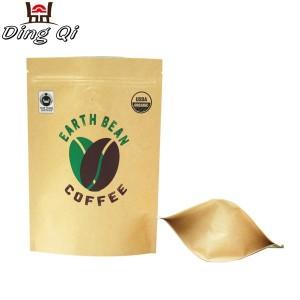 brown paper bag supplier with zip lock