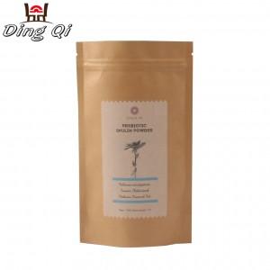 Brown kraft paper custom bag for protein powder
