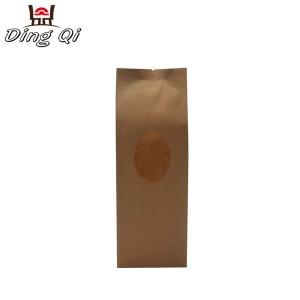 Stock side gusset kraft paper pouch